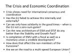 the crisis and economic coordination