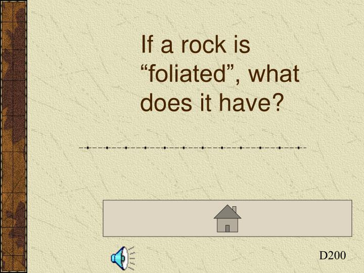 If a rock is