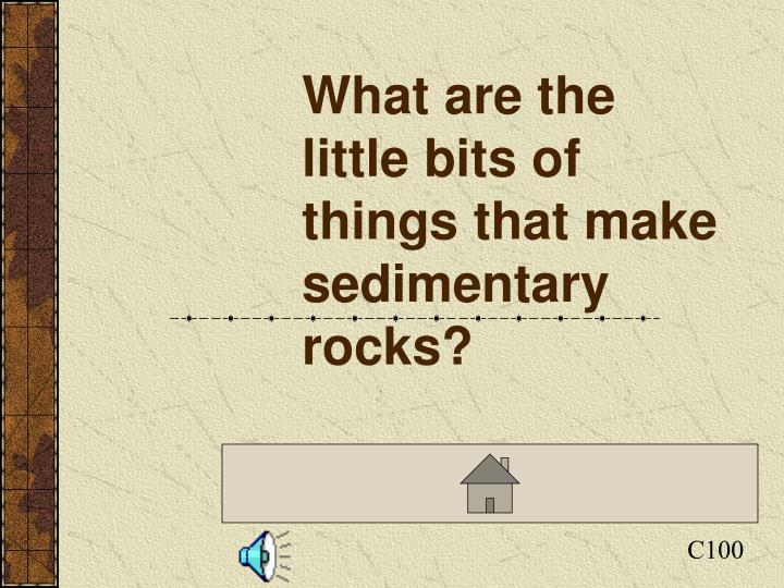 What are the little bits of things that make sedimentary rocks?
