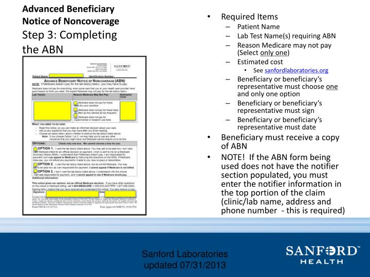 Advanced Beneficiary Notice of
