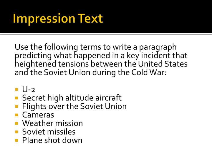 Impression Text