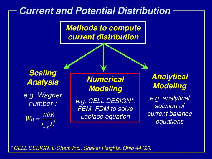 Current and Potential Distribution