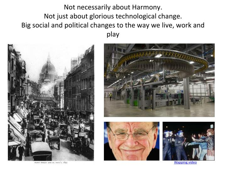 Not necessarily about Harmony.