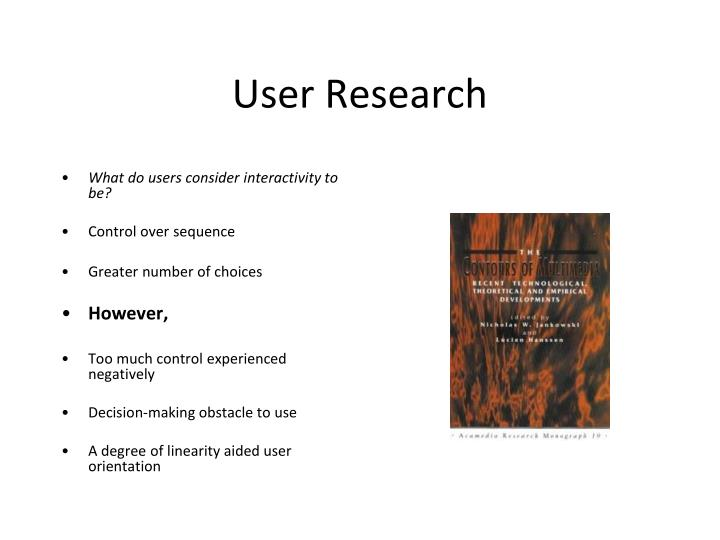What do users consider interactivity to be?
