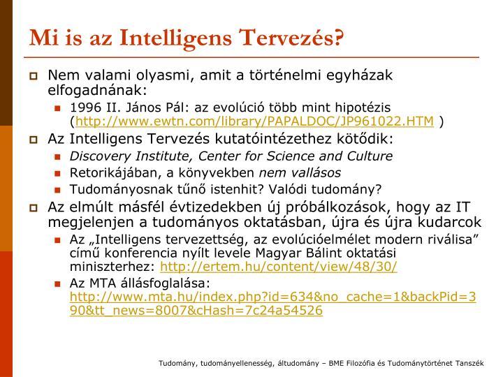 Mi is az Intelligens Tervezés?