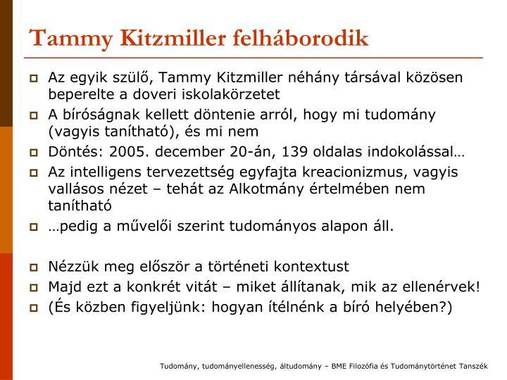 Tammy Kitzmiller felháborodik