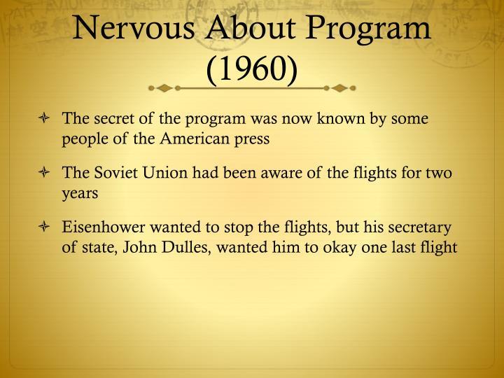 Nervous About Program (1960)