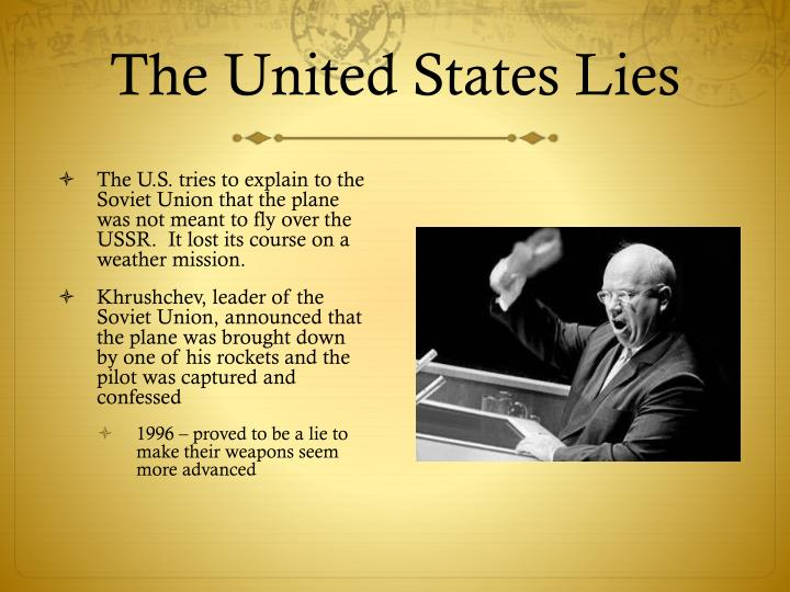 The United States Lies