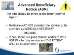 advanced beneficiary notice abn