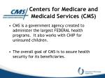 centers for medicare and medicaid services cms