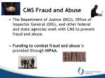 cms fraud and abuse