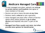 medicare managed care
