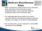medicare miscellaneous rules2