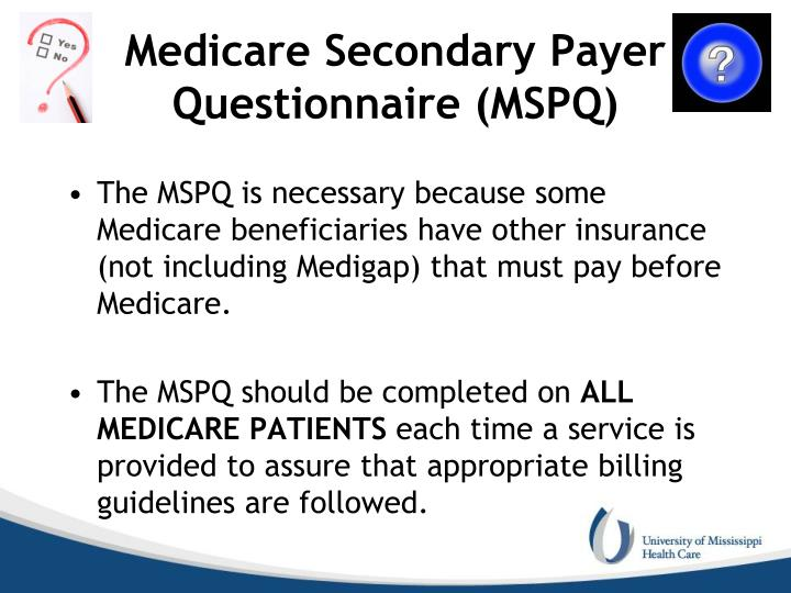 Medicare Secondary Payer Questionnaire (MSPQ)