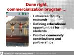 done right commercialization program