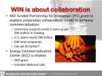 win is about collaboration