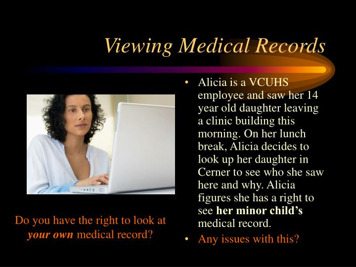 Viewing Medical Records