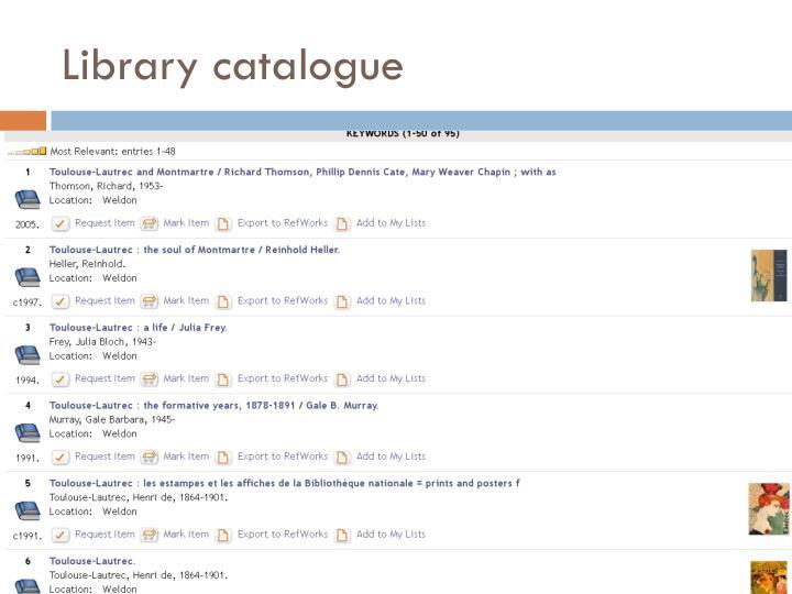 Library catalogue