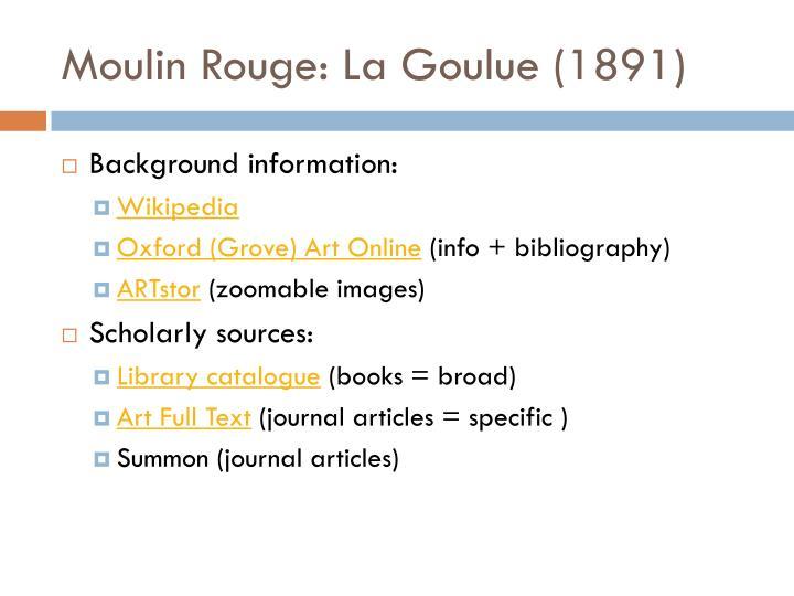 Moulin Rouge: La Goulue (1891)
