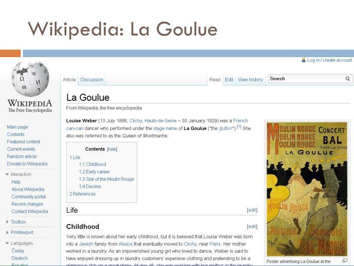 Wikipedia: La Goulue