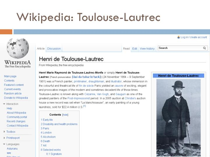 Wikipedia: Toulouse-Lautrec