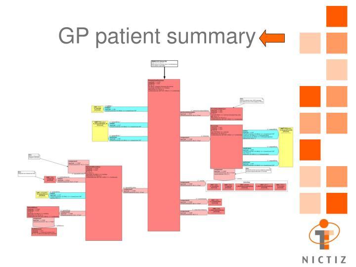 GP patient summary