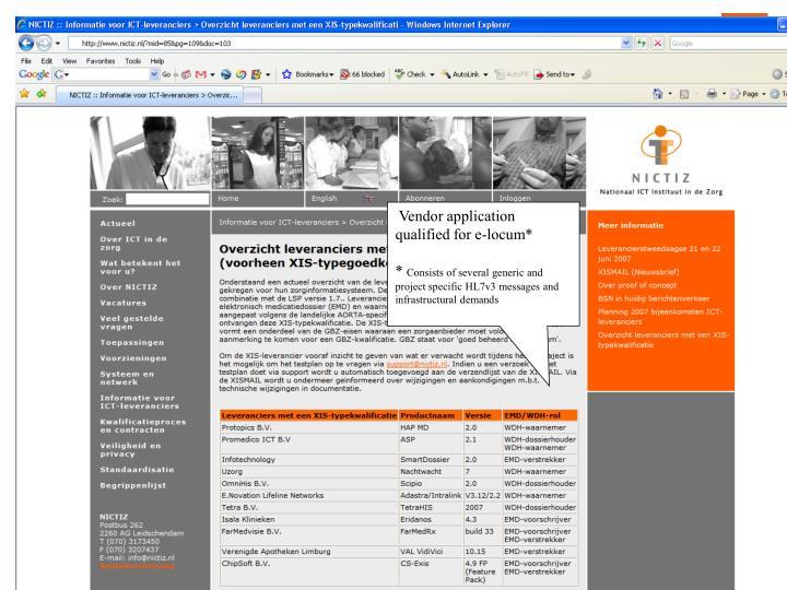 Vendor application qualified for e-locum*