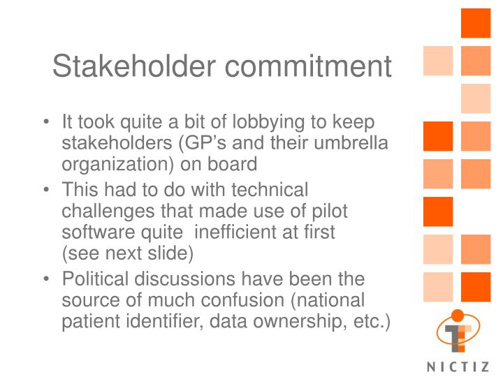 Stakeholder commitment