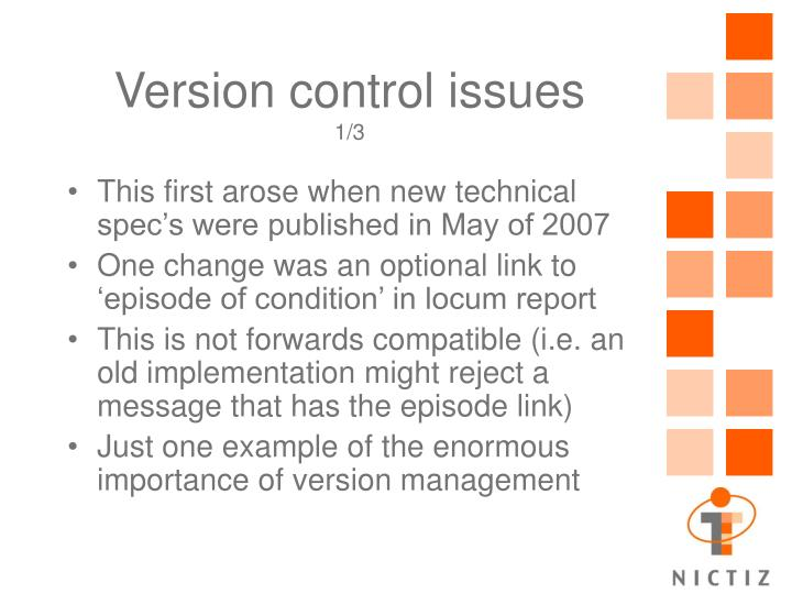 Version control issues