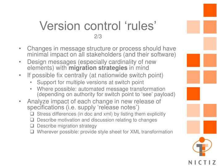 Version control 'rules'