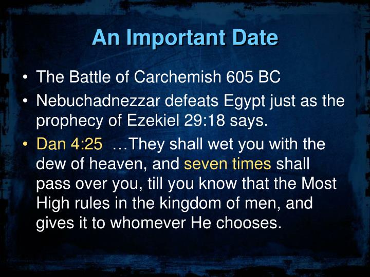 An Important Date