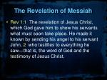 the revelation of messiah