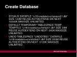 create database2