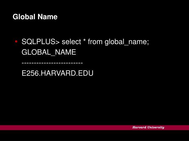 Global Name