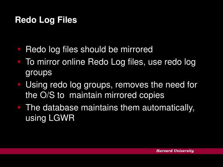 Redo Log Files