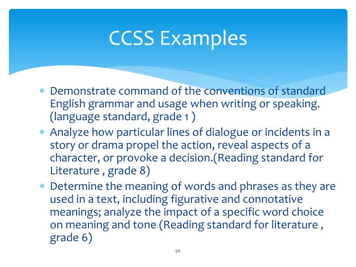 CCSS Examples