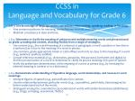 ccss in language and vocabulary for grade 6