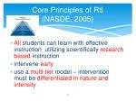 core principles of rti nasde 2005