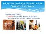 for students with special needs to meet standards they require2