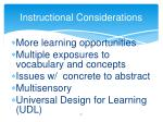 instructional considerations1