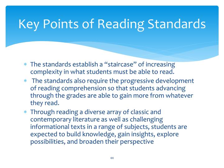 Key Points of Reading Standards
