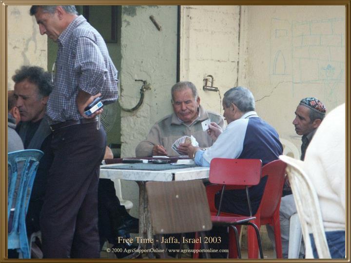 Free Time - Jaffa, Israel 2003