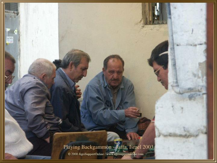 Playing Backgammon - Jaffa, Israel 2003