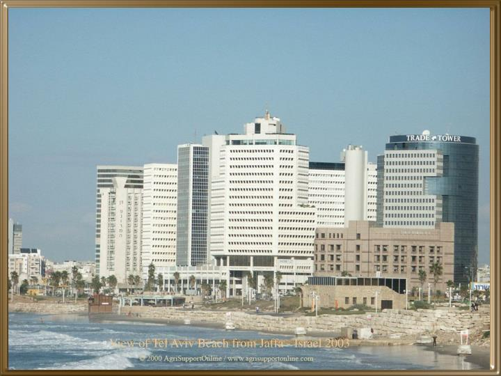View of Tel Aviv Beach from Jaffa - Israel 2003