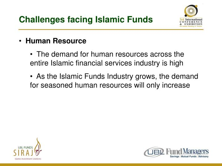 Challenges facing Islamic Funds