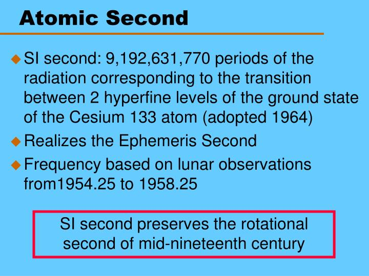 Atomic Second