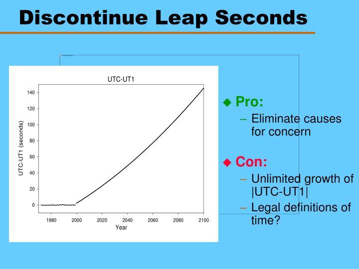 Discontinue Leap Seconds