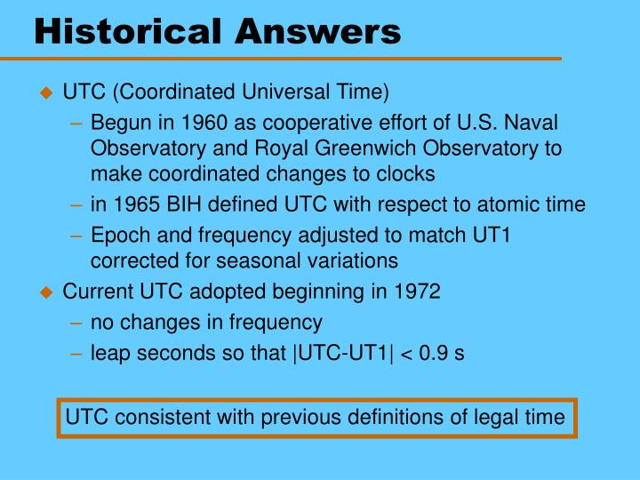 Historical Answers