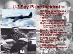 u 2 spy plane incident