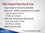 2011 federal fleet size cost